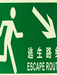 Pvc Luminous Safety Signs Identify Escape Intersection Road Signs Guide Plate Stickers