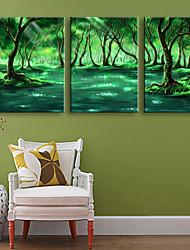 Пейзаж Холст для печати 3 панели Готовы повесить , Вертикальная