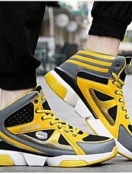 Masculino-TênisRasteiro-Preto Azul Amarelo-Microfibra-Para Esporte