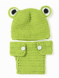 Fashion Baby Acrylic Casual/Daily Frog Style Hoodie Sleepwear Patchwork All Seasons
