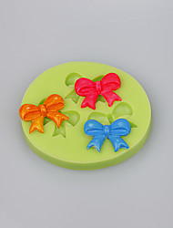 Best seller bow shapes chocolate DIY cake decoration silicone mold Color Random