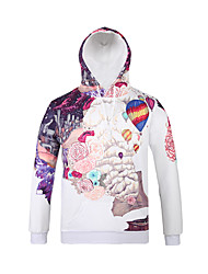 Inspired by3D Balloons Flower Long Sleeve Hoodie Cosplay Hoodies Print Long Sleeve Coat Clothing Round Halloween