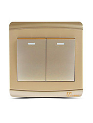 86 Type Champagne Gold Two Open Double Control Wall Switch