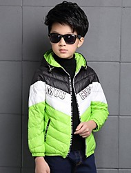 Boy's Casual/Daily Color Block Down & Cotton PaddedPolyester Winter Blue / Green / Orange / Red / Yellow