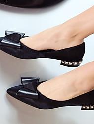 Homme-Décontracté-Noir-Talon Aiguille-Confort-Chaussures à Talons-Cuir