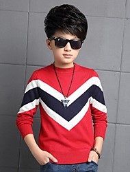 Boy's Casual/Daily Color Block Sweater & CardiganCotton Winter Blue / Red
