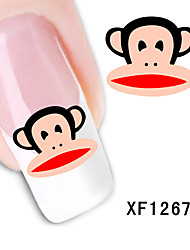 Cute Monkey Water Transfer Decals Nail Sticktes