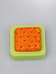 Square handmade soap mold food grade silicone mold for fondant cake decoration tools