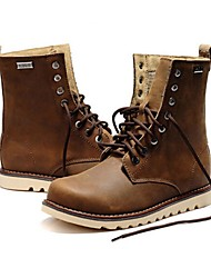 Men's Boots Fall / Winter Combat Boots Cowhide Casual Flat Heel Lace-up Black / Brown Others