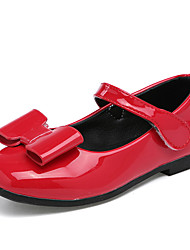 Girl's Loafers & Slip-Ons Spring / Fall Comfort PU Casual Flat Heel Magic Tape Black / Red / White Sneaker