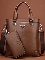 Men PU Office & Career Shoulder Bag Multi-color