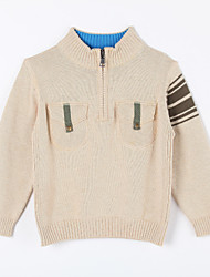 Boy's Casual/Daily Solid Sweater & CardiganCotton Fall Beige