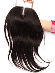 18Inch Handtied Staight Lace Closure Unprocessed Hair Remy Human Hair 4*4Swiss Lace