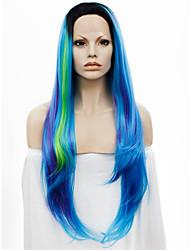 Peruca com Renda Perucas para mulheres Azul Costume Wigs Perucas Cosplay