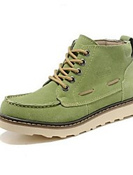 Unisex Boots Winter Cowhide Casual Flat Heel Others Black Brown Green Pink Red Gray Tan Other