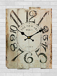 Moderno/Contemporáneo Otros Reloj de pared,Rectangular Otros 30*40*3cm Interior Reloj