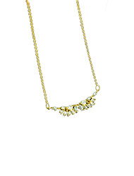 925 Silver Rhinestone Pendant Necklaces
