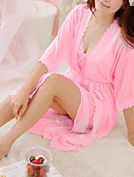 Pijama Para Mujer Fino - Encaje/Seda Sintética
