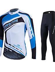 Fastcute Maillot de Ciclismo con Mallas Hombre Mujer Unisex Manga Larga Bicicleta Pantalones/Sobrepantalón Chándal Camiseta/Maillot