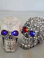 presentes resina de cabeça branca crânio de Halloween adereços pequeno crânio humano réplica assombrado quarto casa escapar gleamy