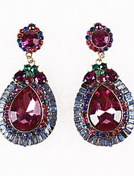 Drop Earrings Simulated Diamond Alloy Fashion Drop Jewelry Purple Jewelry Daily Casual 1pc