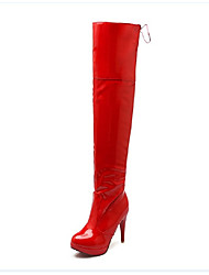 Women's Boots Fall / Winter Snow Boots PU Outdoor / Dress / Casual Stiletto Heel Others Black / Red / White Snow Boots