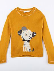 Girl's Casual/Daily Animal Print Sweater & CardiganCotton Fall Yellow