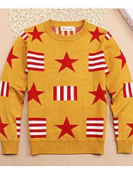 Casual/Daily Geometric Sweater & Cardigan,Cotton Winter Fall Spring Long Sleeve Regular
