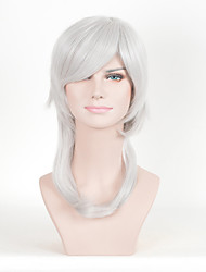 Fashion Straight Grey Color Afro Women Cospaly Synthetic Wigs