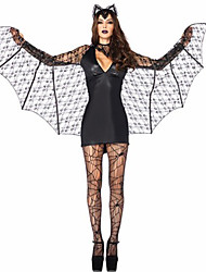 Cosplay Costume/Party Costume Devil Bat/Vampire Festival/Holiday Costume Halloween Black Solid/Lace Terylene Dress