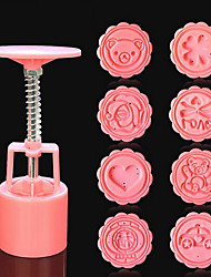 1 Set Newest Round Moon Cake Mold Mooncake Decoration Mould Kitchen Tool