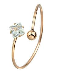 Rhinestone Adjustable Cuff Bracelet Bangle for Ladies
