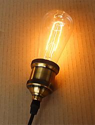 folha ST64 40w e27 lâmpada incandescente retro filamento da lâmpada de Edison do vintage (AC220-240V)