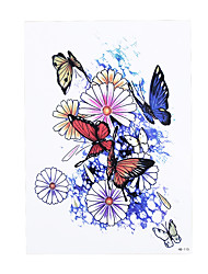 1pc Women Men Body Arm Sleeve Art Temporary Tattoo Colorful Flower Butterfly Style Paper Design Tattoo Sticker HB-318