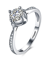 lureme Chic 18kRPG Cubic Zirconia Engagement Wedding Ring