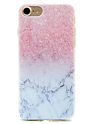 Pink Marble Pattern TPU High Purity Translucent Openwork Soft Phone Case for iPhone 7 7Plus 6S 6Plus SE 5S 5