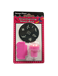 Byfunme Jelly Silicone Nail Art Scraper With Cap Print Stamp Stamping Tools