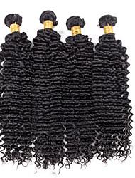 Menschenhaar spinnt Brasilianisches Haar Wellen 18 Monate 4 Stück Haar webt