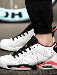 Men's Athletic Shoes Fall Flats Synthetic Outdoor / Athletic Flat Heel Others Black / White Basketball