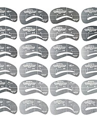 24 Type  Eyebrow Stencils Set Card Template Model For Eyebrow Thrush Makeup Tools Arched Eyebrows Synophridia