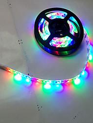 1m llevó luces de la secuencia 120LED vacaciones decoración de la lámpara festival de navidad iluminación exterior flexible del coche