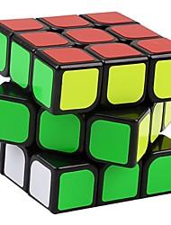 Yongjun® Cube velocidade lisa 3*3*3 Velocidade Cubos Mágicos Preta Etiqueta lisa Guanlong Anti-pop / mola ajustável ABS
