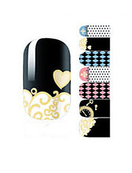 Fashion Chrome Hearts Geometry Love Clock Nail Decal Art Sticker Gel Polish Manicure