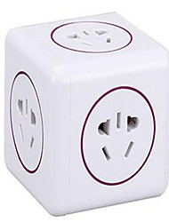 Built overflow Cabeada Others USB multi-function plug-in smart plug Amarelo / Roxa