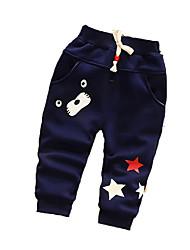 Pantalons bébé Imprimé Décontracté / Quotidien Coton Hiver Bleu / Rouge / Gris