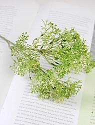 """1 Branch 1 Une succursale Gel de silice Plantes Fleur de Table Fleurs artificielles Total Length:18.6"""""""