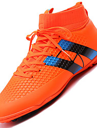 Men's Sport Shoes High Cut Soccer Shoes Outdoor / Athletic Flat Heel Lace-up Black / Green / Orange