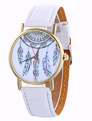 Girl Quartz Watch Clock Women Leather Casual Dress Women's Feather Wristwatch Cool Watches Unique Watches