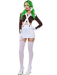 Disfraces de Cosplay Ropa de Fiesta Princesas Cuento de Hadas Festival/Celebración Disfraces de Halloween Blanco Un Color Top Falda