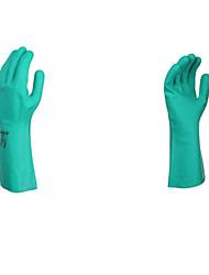 luvas de protecção resistente ao óleo borracha nitrílica química
